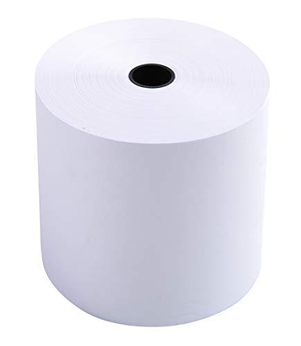 Exacompta - 7680120V - 10 Bobines pour Caisses - 1 Pli Extra-Blanc 60g/M - 76mm X 80mm X 12mm (55m)