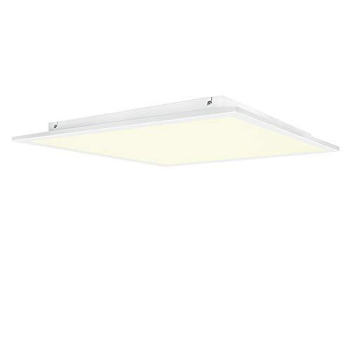 LED plafondlamp paneel 62x62 cm woonkamer lamp, 40W, 4800lm, 3000K, woonkamerlamp, plafondlamp, warm wit (1 stuks)