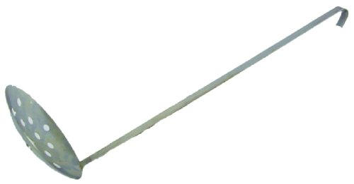 HT Enterprises 18-Inch Handle 6-Inch Metal Skimmer Cup, Silver