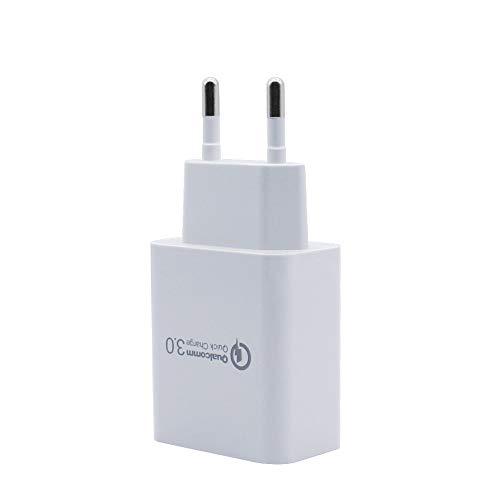 BERLS Quick Charge 3.0 5V 3A 18W Secteur USB Chargeur Rapide pour Samsung Galaxy S9 / S8 / Note 8, LG G5 G6, Nexus 5X 6P, HTC 10, i Pad Pro Air, Moto G4 etc Smartphone et Tablette