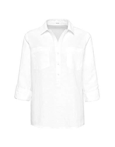 OPUS Damen Fredda Bluse, Weiß (White 010), (Herstellergröße: 38)