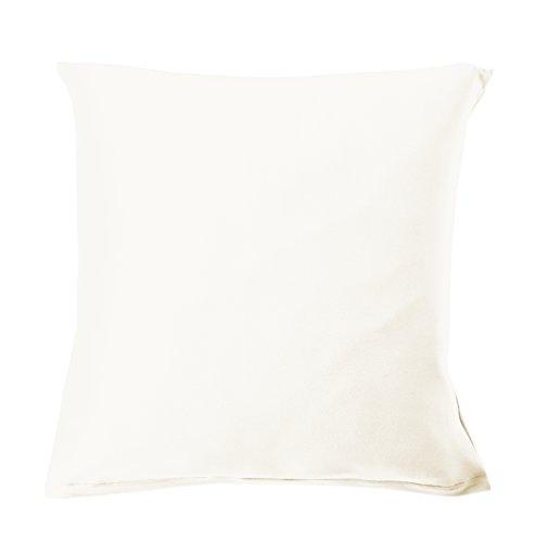 Blanc des Vosges Uni Jersey Taie Coton Blanc 65 x 65 cm