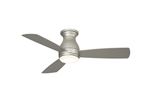 Fanimation Hugh - 44 inch - Brushed Nickel with Brushed Nickel Blades with LED Light Kit and Wall Control - Wet Rated - 220V - FPS8332BNW-220