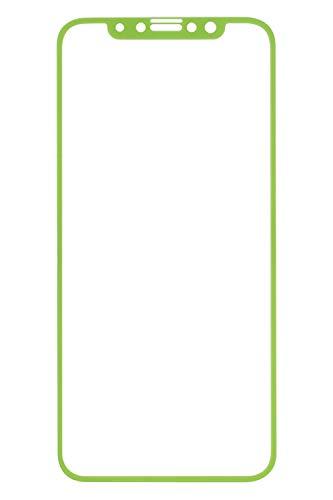 iFace iPhone11 Pro/XS/X 専用 ガラスフィルム 液晶保護シート [グリーン]
