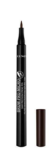 Rimmel Brow Pro Micro 24HR Precision-Stroke Pen, Shade 004 Dark Brown, 1 ml
