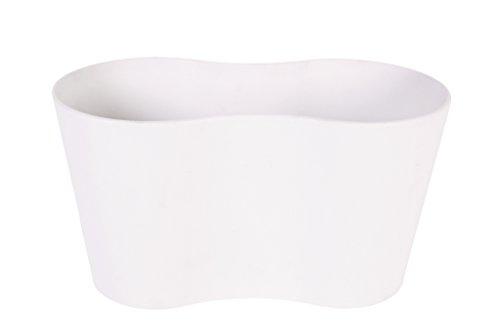 Artstone Pflanzgefäß Pflanzkübel duo Claire, frostbeständig und leichtgewichtig, Weiß, 26x13x14cm