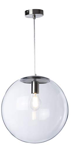 Hängeleuchte Globus, gebürstetes Aluminium