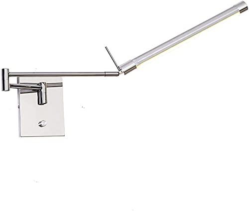 Lámpara de pared Luz de pared LED moderna, brazo largo ajustable Lámpara de pared Ajustable 180 ° Lámparas de lectura giratorio 180 ° Plegado hacia arriba y hacia abajo con el interruptor para la esca
