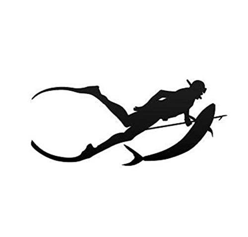 MDGCYDR Pegatinas Coche 17,7 * 7,9 Cm Buceo Libre Lanza Pesca Buceo Snorkel Pegatina En Coche Divertido 3D Calcomanía Motocicleta Pegatinas Estilo De Coche