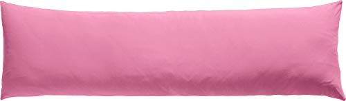 REDBEST Seitenschläferkissenbezug Single- Jersey San Francisco rosa Größe 40x140 cm- weiche Qualität, bügelfrei, praktischer Reißverschluss, 100{f2fd08d3bdd9c6c60e007e19f89ae2ac4c6d210adae2d1f323ce1421fcea6132} Baumwolle (weitere Farben)