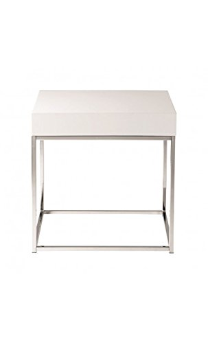 CAMINO A CASA - Table d'appoint Plateau Blanc laqué Block