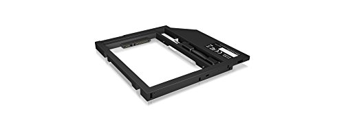 ICY BOX IB-AC649 notebookadapter voor 6,35 cm 2,5 inch HDD/SSD met bouwhoogte 7-9 cm in een 9-9,5 mm DVD-slot