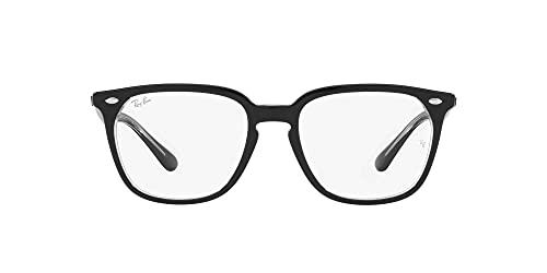 Ray-Ban 0RX4362V-2034-53, Gafas Hombre, Negro sobre Transparente