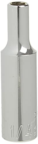 CRAFTSMAN Deep Socket, SAE, 3/8-Inch Drive, 1/4-Inch, 6-Point (CMMT23144)
