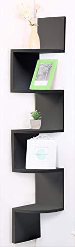 Etnicart - Mensola angolare legno MDF wenge da parete 20x20xH120cm libri oggetti scaffale parete Mensola ripiani scaffale ingresso, soggiorno camera, bagno