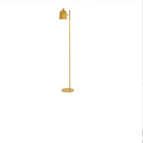 PrittUHU Lámpara Moderna de pie, lámparas de pie de Hierro Minimalistas Coloridas para Sala de Estar Dormitorio nórdico decoración para el hogar luz de pie lampara de pie (Lampshade Color : Yellow)