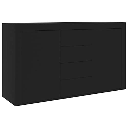 vidaXL Aparador de aglomerado negro 120x36x69 cm