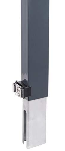 GAH-Alberts 672706 Zaunerhöhung Erhard | zur einfachen Erhöhung eines vorhandenen Doppelstabmattenzaunes | anthrazit | Höhe 800 mm | für Pfosten 60 x 40 mm