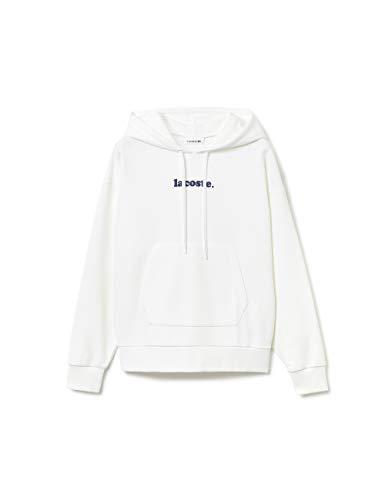 Lacoste Damen Sf9569 Sweatshirt, Weiß (Blanc 001), Large