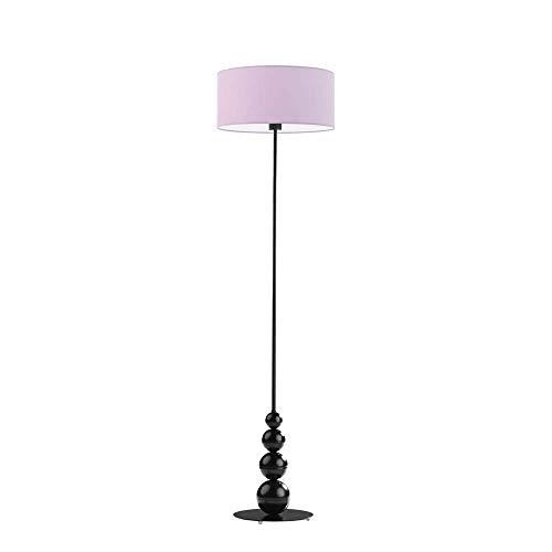 ROMA - Lámpara de pie con pantalla de lámpara, color morado claro y marco negro
