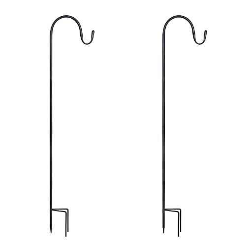 Shepherd's Hooks Set of 2 and 35 Inches Long Made of Premium Metal for Hanging Solar Lights, Mason Jars, Plant Hangers, Christmas Lights, Lanterns, Garden Stakes and Wedding Decor