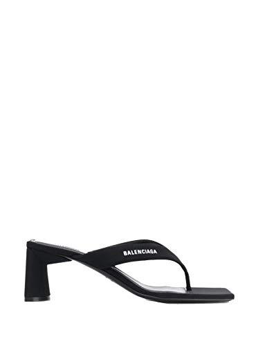 Luxury Fashion   Balenciaga Dames 597256W05321006 Zwart Viscose Sandalen   Lente-zomer 20