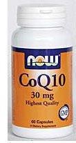 NOW CoQ10 30mg 60 Veg Capsules, 20 g