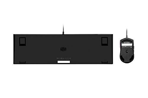 Cooler Master MS110 Tastiera e Mouse da Gioco, RGB Colore da Arcobaleno, USB Gaming Tastiera e Mouse con 3200 DPI, QWERTY Disposizione