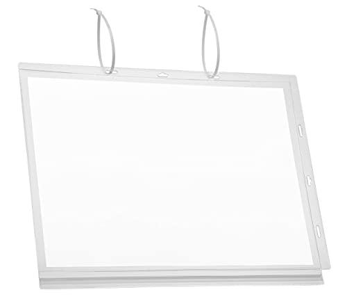 Durable 502819 - Cartellina portadocumenti impermeabile A3, confezione da 5 pezzi, trasparente