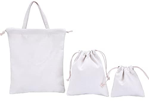 abaría - Set de 3 bolsos tela algodón para niño (1 bolsos...