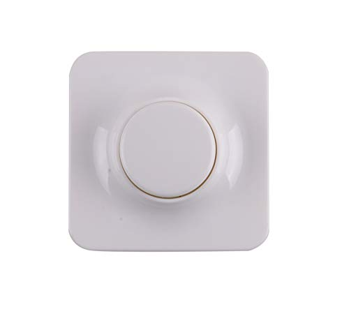 VIRIBRIGHT LED + Halogen Unterputz Dreh-Dimmer 200W Helligkeitsregler Dimm-Schalter Einfachschaltung Phasenabschnitt Phasenanschnitt Lichtschalter