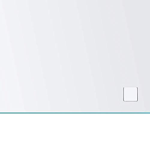 Spiegel ID ZUSATZOPTION für LED Badspiegel - Auswahl: Steckdose (230V Anschluss auf der Spiegeloberfläche) - Position: unten rechts - Farbe: Chrom