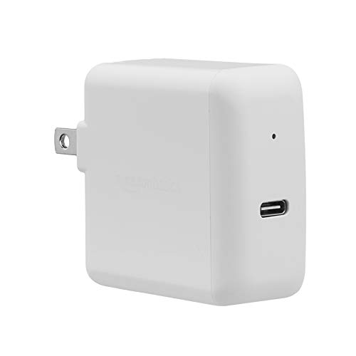 AmazonBasics 30W One-Port USB-C 3.0 Wall Charger for Laptops, Tablets and Phones - White