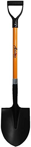 Ashman Round Shovel - The Round Shovel has a D Handle Grip with 41 Inches Long Shaft with a Durable Handle – Heavy Duty Blade Weighing 2.2 pounds – Orange Shovel with a Solid Build