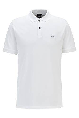 BOSS Herren Prime Poloshirt, Weiá (White 100), XXL EU