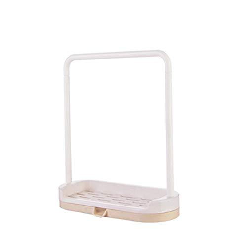 ASSteel Küchenarbeitsplatten-Ablaufgitter für Küchentuch Tuch Blätter Lappen Seifenschwamm Lagerung Home Essentials cremiger Whitehit