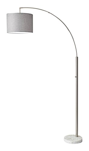 Adesso 4249-22 Bowery Arc Lamp, Steel, Smart Outlet Compatible, 77'