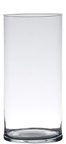 Hakbijl Dekoglas, Vase Zylinder H. 30cm D.12cm transparent rund Glas