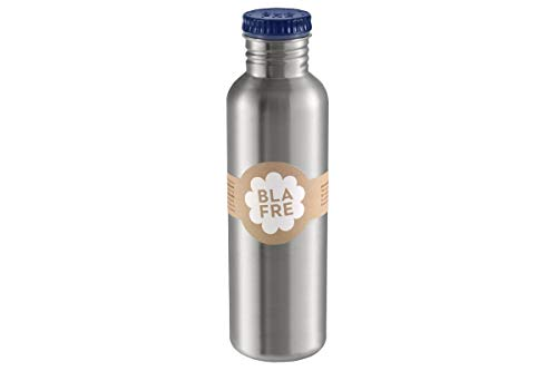 Blafre - Botella de acero inoxidable reciclado de 750 ml, azul marino - Diseño clásico y una super manera de evitar desechar plástico, 4585