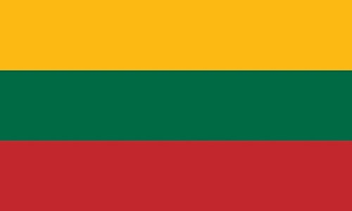 Qualitäts Fahne Flagge Litauen 90 x 150 cm mit verstärktem Hissband