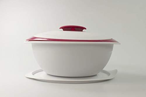 Tupperware Thermo-Duo 2,5 l, bianco mora, per servire al caldo