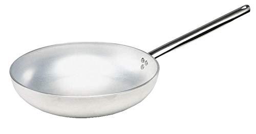 Pentole Agnelli ALMA111B20 Padella Alta per Saltare, Alluminio Professionale, Argento, 20 cm