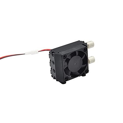 GAZO Herramientas de engarce hidráulico Mini radiador de Metal de Aceite hidráulico con Ventilador para 1/14 1/12 RC Piezas de Coche de camión volquete Excavadora Taladro