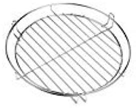 HeRo24 Chrom Grillrost Grill Rost Grillgitter rund, zum Aufhängen, Dreibein, Schwenkgrill 30 cm