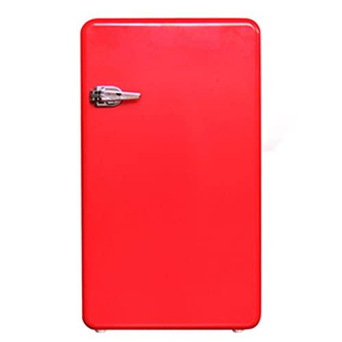 Mini refrigerador Bebida Refrigerador Refrigerador Freestanding 92L con mango Estante extraíble para bebidas Jugo de soda Dispensador de bebidas pequeña para el bar de oficina en casa ( Color : Red )