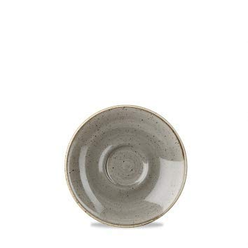 Churchill Stonecast -Saucer Untertasse for Cappuccino Cup - Farbe wählbar (Peppercorn Grey)