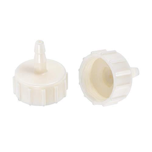 sourcing map Acoplador de manguera ABS, 4 mm x G1/2 hembra adaptador de tubo de rosca, color blanco, 2 unidades