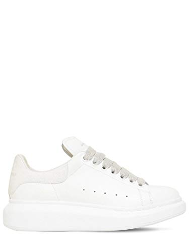 Alexander McQueen White Glittered Oversize Sneakers New FW20 (Numeric_5_Point_5)