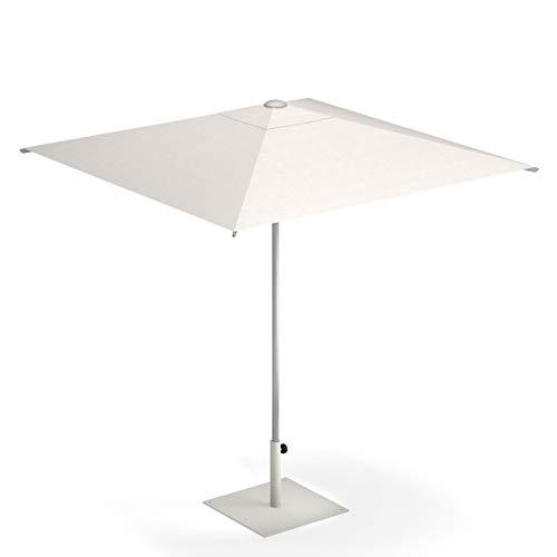 emu Shade Sonnenschirm 300x300cm, weiß Stoff Polyester weiß LxBxH 300x300x260cm Stock Ø4,8cm Gestell Aluminium ohne Schirmständer
