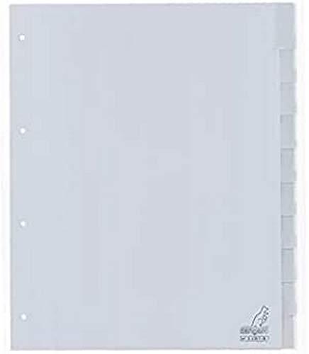 Register Kangaro DIN A4 Fenster PP 120 micron 4r. 10tlg grau EB